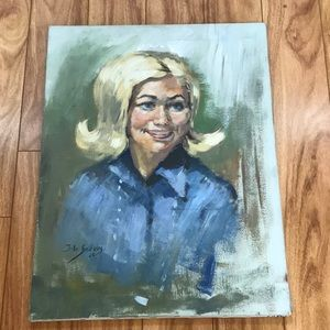 Dolly pardon lookalike painting of lady vintage 69